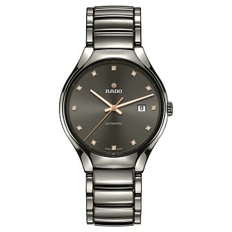 Rado Men's True Automatic Ceramic & Diamond Bracelet Watch - Product number 6956858