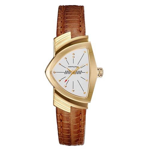 Hamilton Ventura Ladies' Yellow Gold Plated Strap Watch - Product number 6956866