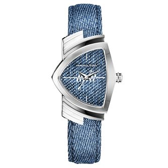 Hamilton Ventura Ladies' Stainless Steel Blue Strap Watch - Product number 6956874