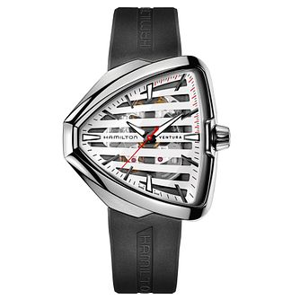 Hamilton Ventura Men's Stainless Steel White Strap Watch - Product number 6956904