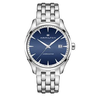 Hamilton Jazzmaster Men's Blue Stainless Steel Watch - Product number 6956912