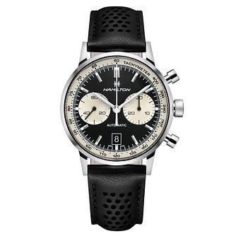 Hamilton Intramatic 68 Men's Black Chronograph Strap Watch - Product number 6956947