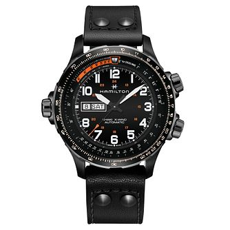 Hamilton Khaki X Men's Ion Plated Black Strap Watch - Product number 6957013