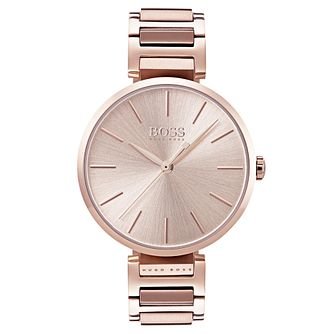 663fd2be0 Hugo Boss Allusion Ladies' Rose Gold Plated Bracelet Watch - Product number  6957366