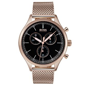 Hugo Boss Companion Men's Ion Plated Chronograph Watch - Product number 6957498