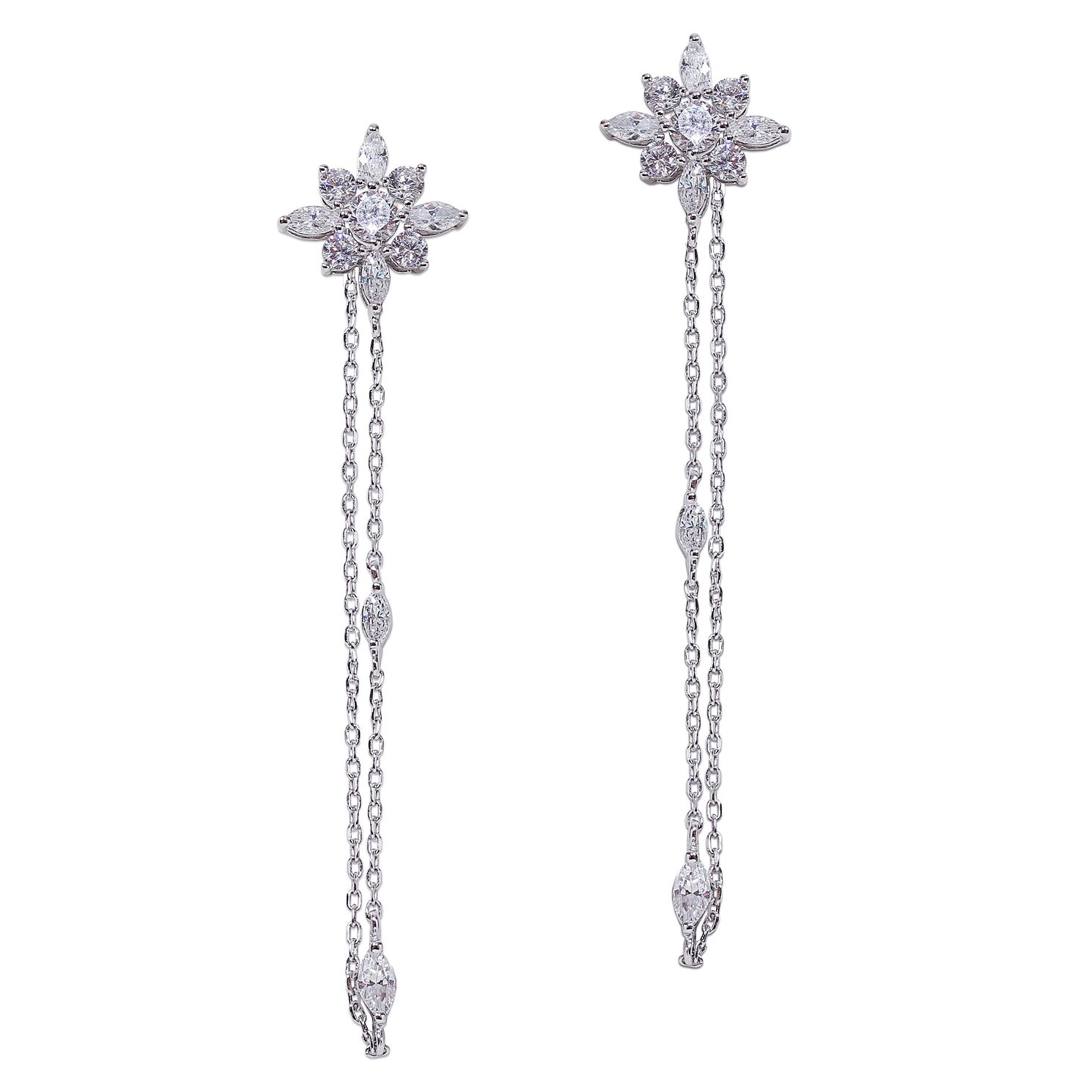 CARAT* LONDON Camelia Sterling Silver Drop Earrings - Product number 6957579