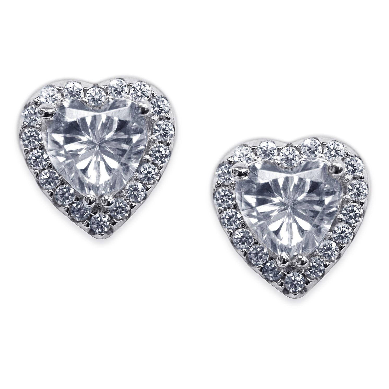 CARAT* LONDON Cora Sterling Silver Heart Studs - Product number 6957587