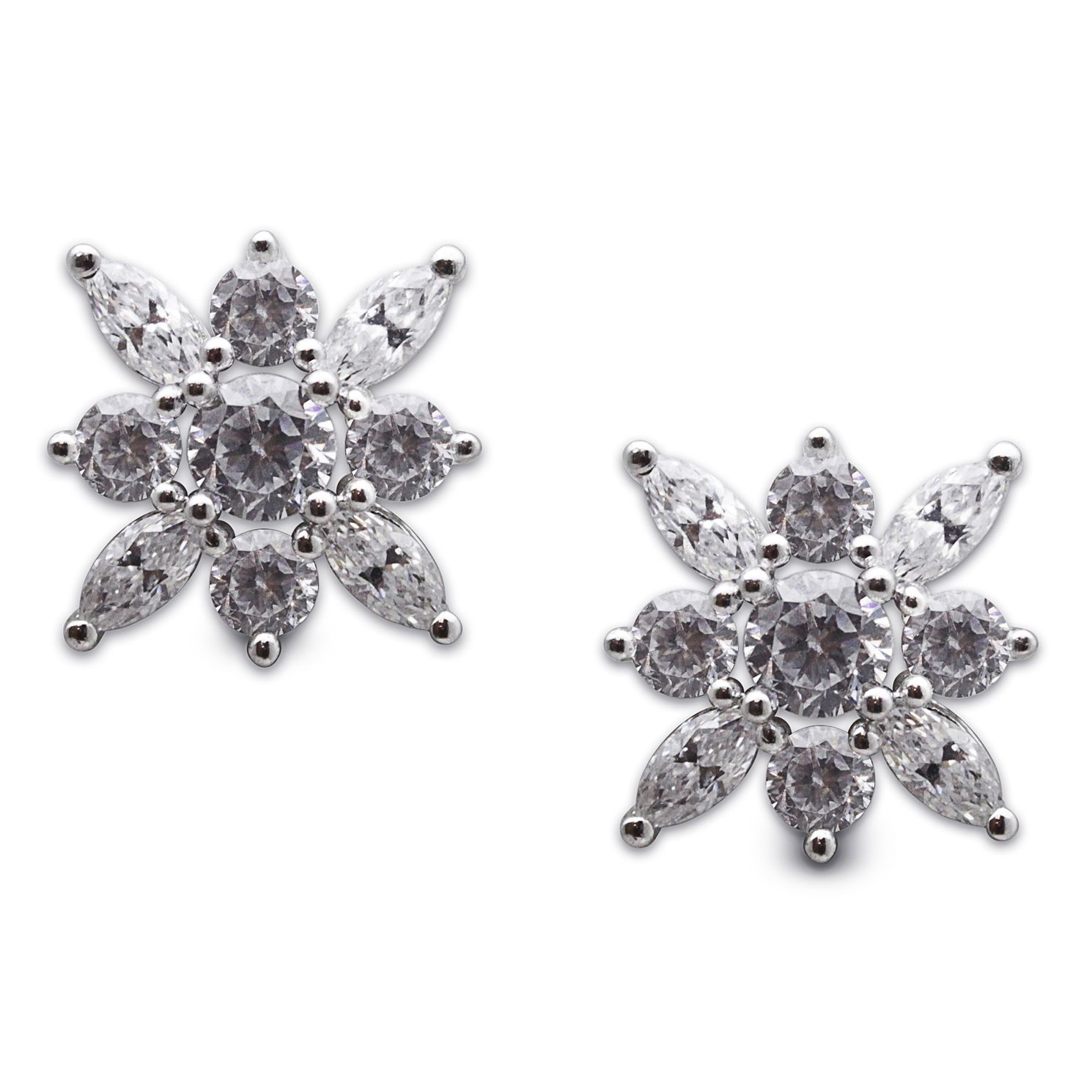 CARAT* LONDON Camelia Sterling Silver Stud Earrings - Product number 6957617
