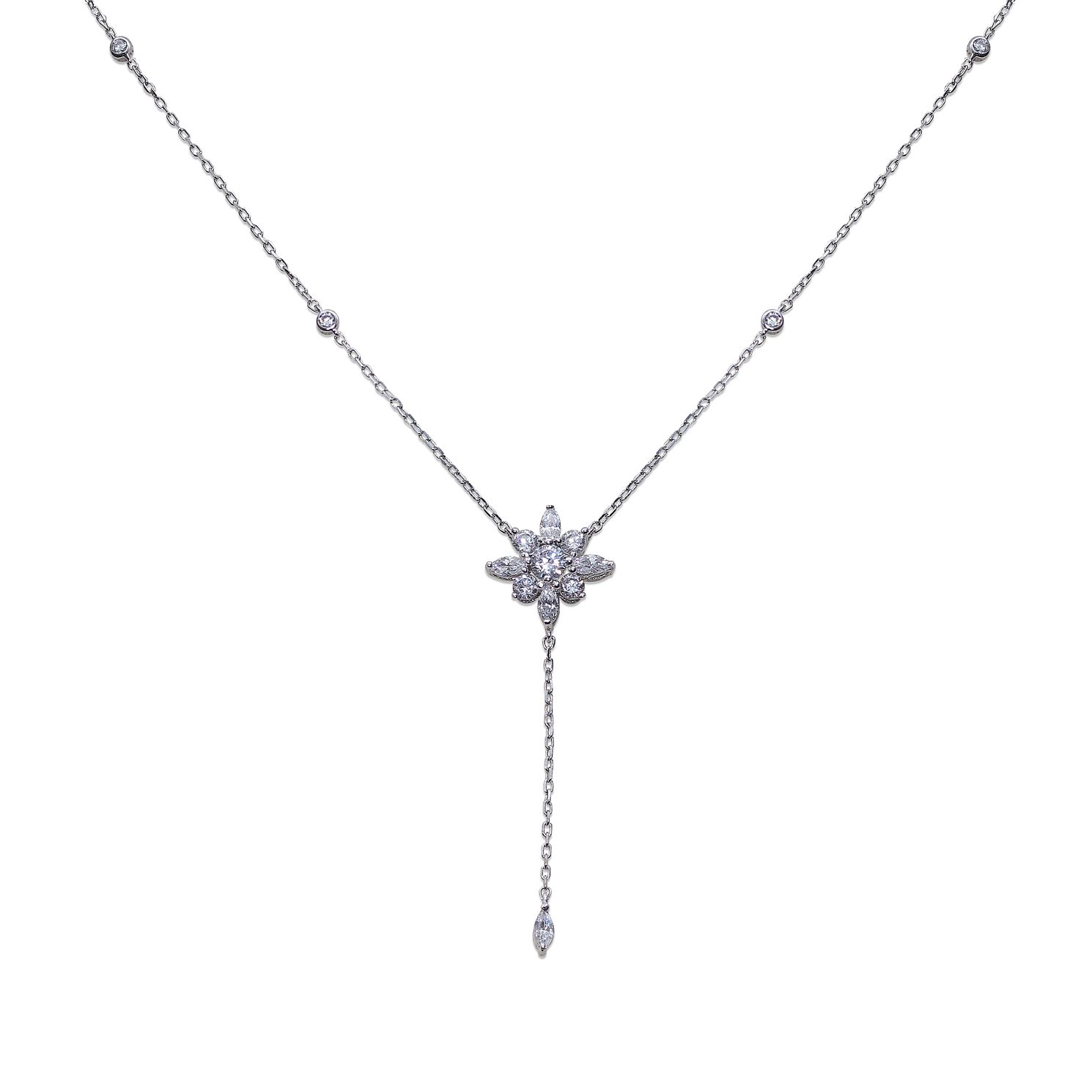 CARAT* LONDON Camelia Sterling Silver Drop Necklace - Product number 6957668