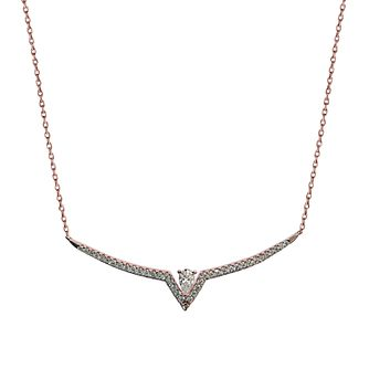 CARAT* LONDON Victoria Rose Gold Tone Necklace - Product number 6957684
