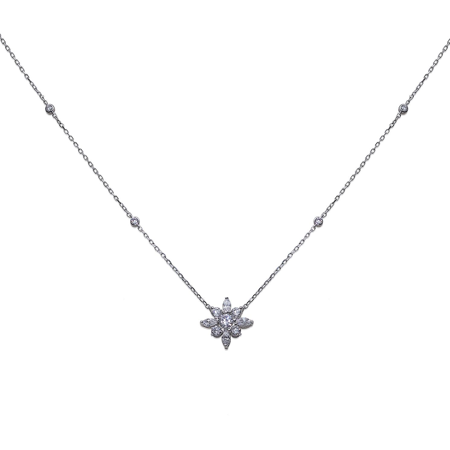 CARAT* LONDON Camelia Sterling Silver Necklace - Product number 6957692