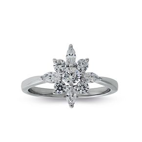 CARAT* LONDON Camelia Snowflower Ring Size P - Product number 6957781