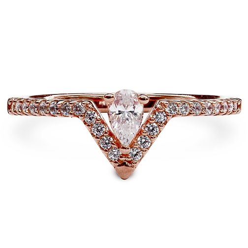 CARAT* LONDON Victoria Rose Gold Plated Ring Size P - Product number 6957838