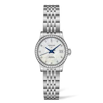 Longines Record Ladies' Diamond Mother Of Pearl Watch - Product number 6959121
