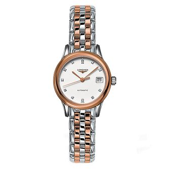 Longines Flagship Ladies' Diamond Two Colour Watch - Product number 6959180
