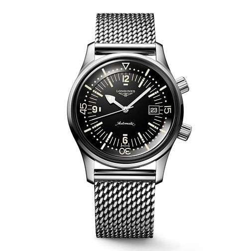Longines Heritage Legend Diver Men's Black Dial Watch - Product number 6959261