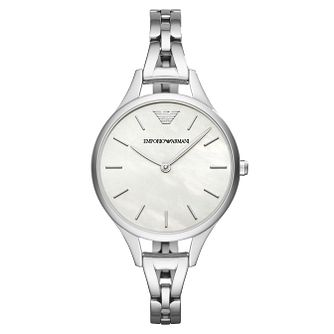 242fed33 Emporio Armani Ladies' Stainless Steel Bracelet Watch