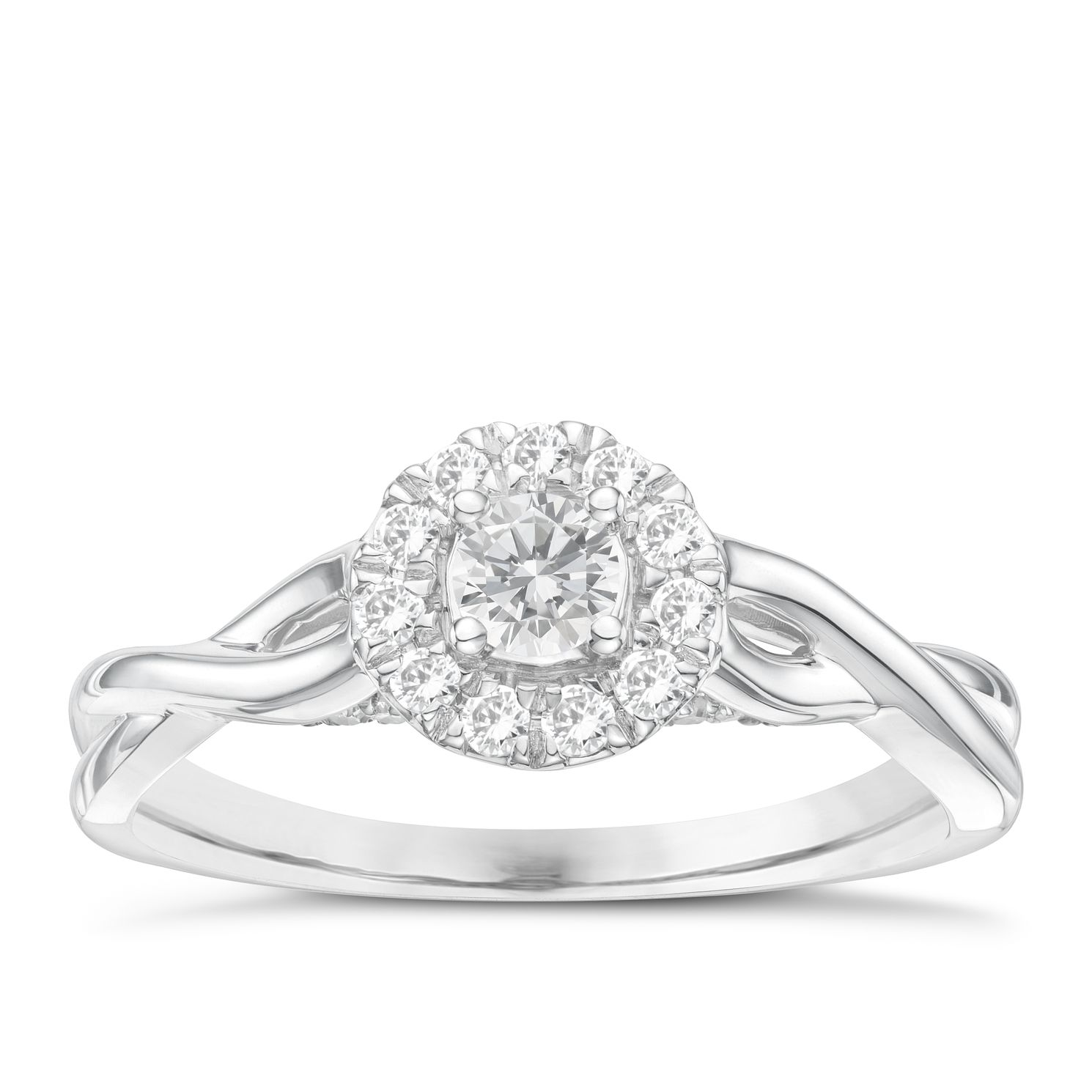 9ct White Gold 1/3ct Diamond Solitaire Ring - Product number 6994172