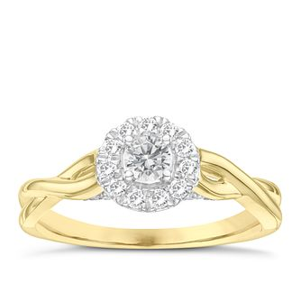 9ct Yellow Gold 1/3ct Diamond Solitaire Ring - Product number 6994318