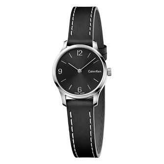 Calvin Klein Ladies' Black Leather Strap Watch - Product number 8000085