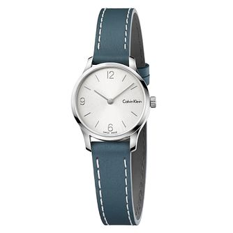 Calvin Klein Ladies' Green Leather Strap Watch - Product number 8000093