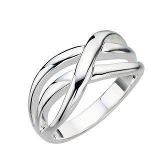 Sterling Silver Weave Ring - Size N - Product number 8000980