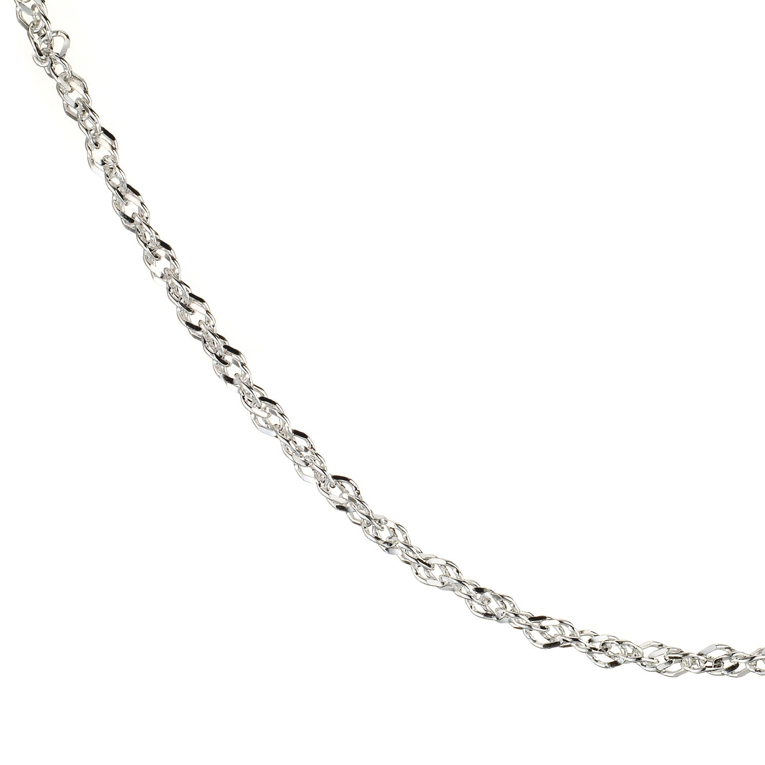 Sterling Silver 18 Inch Singapore Chain - Product number 8001316