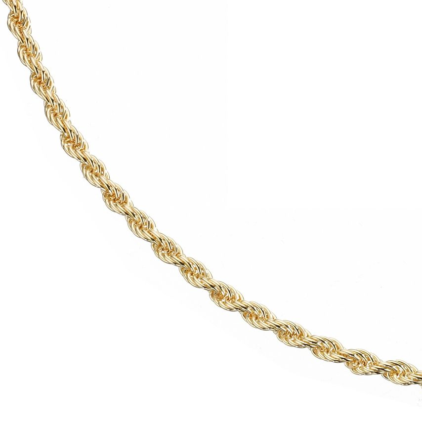 9ct Yellow Gold 18 Inch Rope Chain - Product number 8001790
