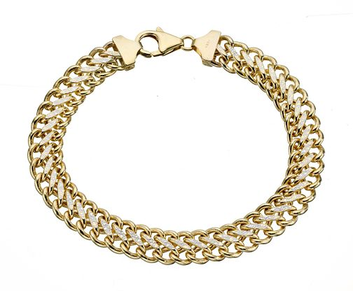 9ct gold detailed bracelet - Product number 8001944