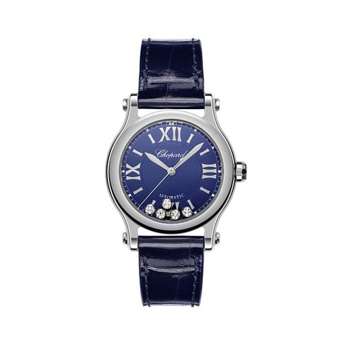 Chopard Happy Sport Ladies' Blue Leather Strap Watch - Product number 8020256