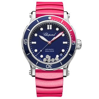 Chopard Happy Ocean Ladies' Stainless Steel Pink Watch - Product number 8020272
