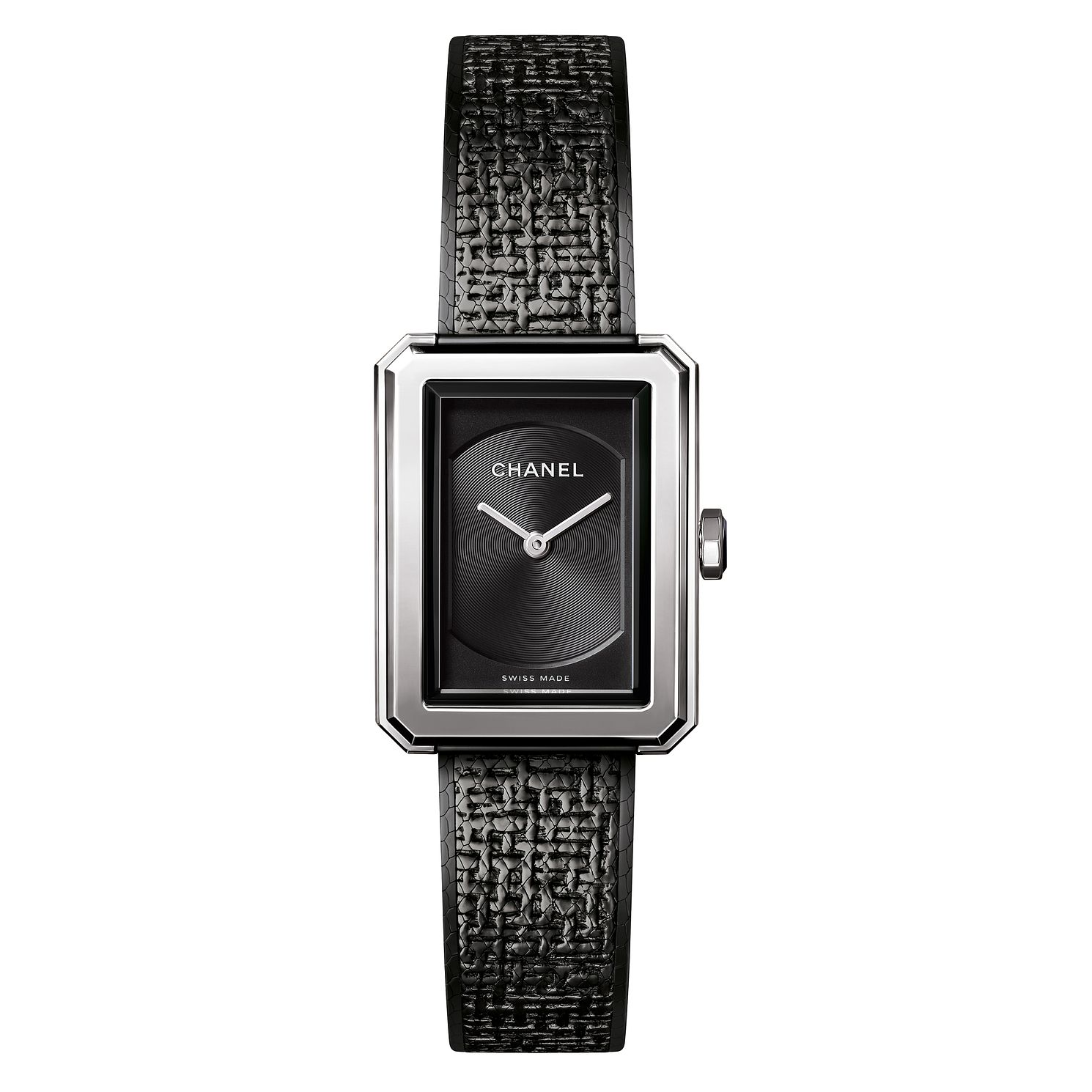 Chanel Boyfriend Tweed Ion Plated Black Bracelet Watch - Product number 8020329