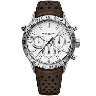 Raymond Weil Freelancer Men's Brown Leather Strap Watch - Product number 8021228