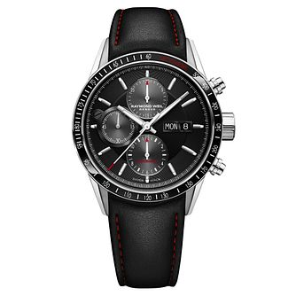 Raymond Weil Freelancer Men's Black Leather Strap Watch - Product number 8021236