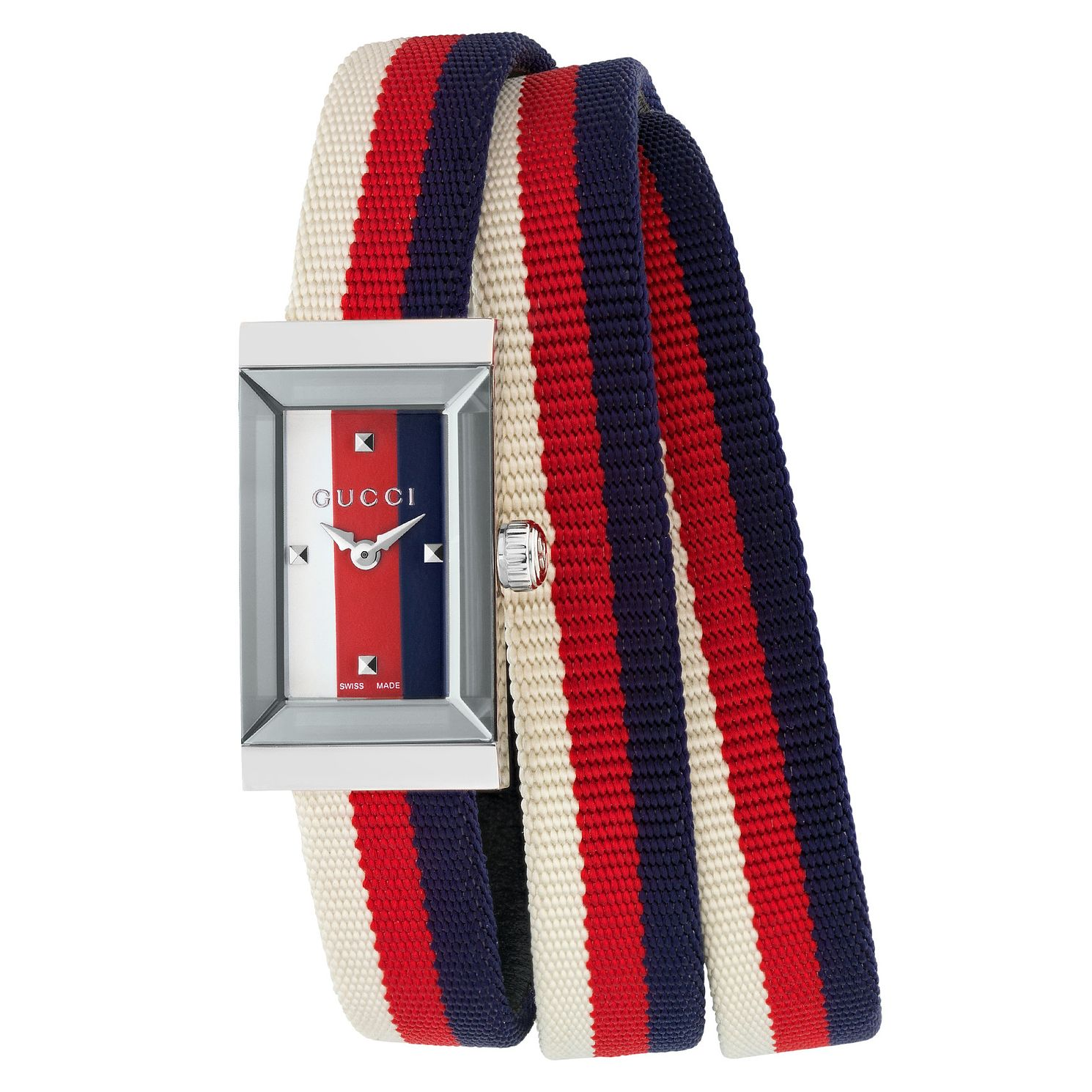 Gucci G-Frame Multi-Colour Striped Strap Watch - Product number 8021279