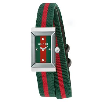 Gucci G-Frame Ladies' Green & Red Strap Watch - Product number 8021287