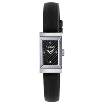 Gucci G-Frame Ladies' Black Leather Strap Watch - Product number 8021295