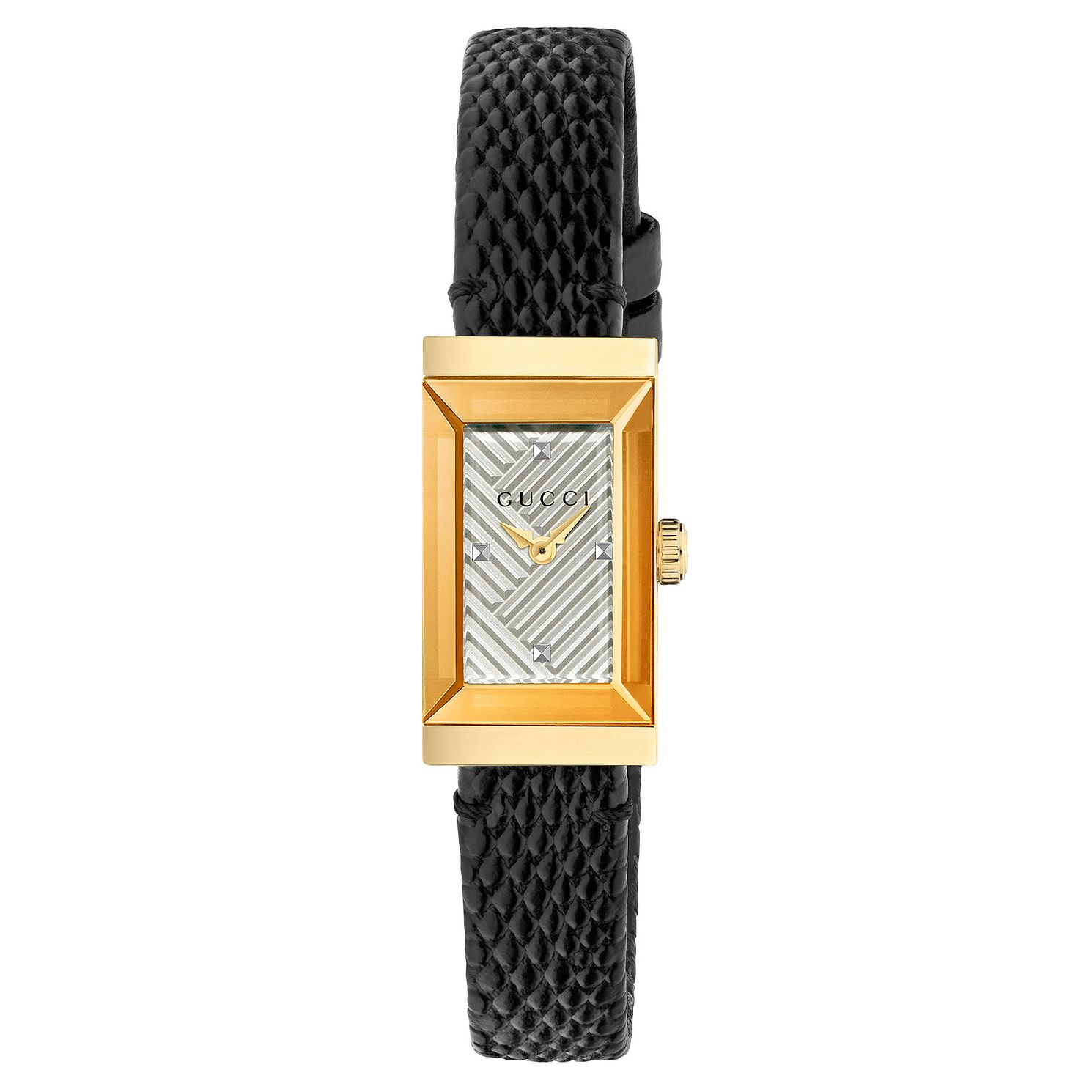 Gucci G-Frame Black Leather Strap Watch - Product number 8021309