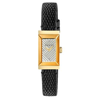Gucci G-Frame Ladies' Black Leather Strap Watch - Product number 8021309