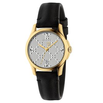 Gucci G-Timeless Ladies' Black Leather Strap Watch - Product number 8021317