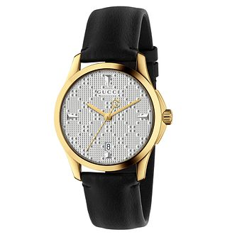 Gucci G-Timeless Ladies' Black Leather Strap Watch - Product number 8021325