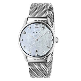 Gucci G-Timeless Stainless Steel Mesh Bracelet Watch - Product number 8021333