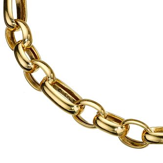 9ct Yellow Gold Small and Large Oval Link Belcher - Product number 8022828