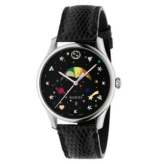 Gucci G-Timeless Moonphase Black Leather Strap Watch - Product number 8027498