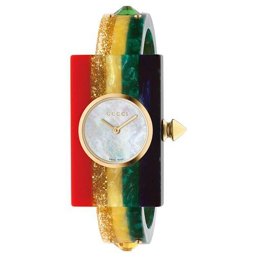 1a9b64a66 Gucci Fashion Plexiglass Rainbow Rubber Strap Watch - Product number 8027560
