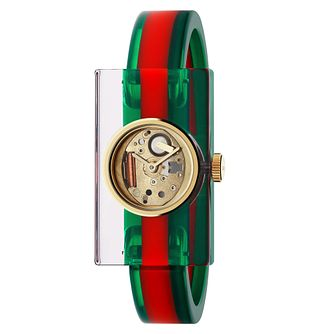 Gucci Fashion Plexiglass Rubber Bangle Watch - Product number 8027579