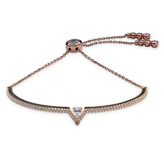 CARAT* LONDON Victoria Rose Gold Plated Adjustable Bracelet - Product number 8028966