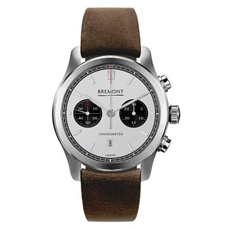 Bremont ALT1-C Men's Brown Leather Strap Watch - Product number 8029083