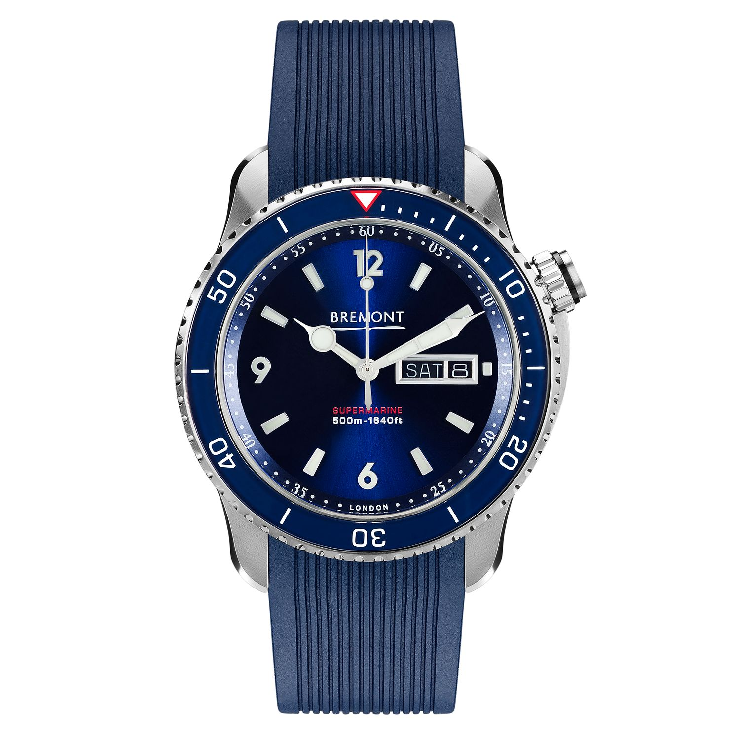 Bremont Supermarine S500 Men's Blue Rubber Strap Watch - Product number 8029113