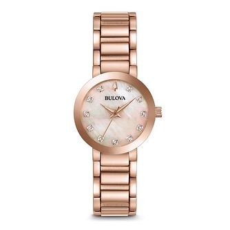 Bulova Modern Ladies' Rose Gold Plated Diamond Watch - Product number 8029172